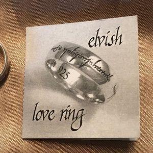 St Justin Elvish love Ring
